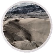 Evening At The Dunes Round Beach Towel
