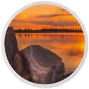 Evening Beauty Round Beach Towel