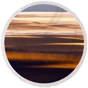 Evening Golds Round Beach Towel