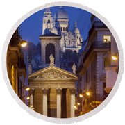 Evening In Paris Round Beach Towel