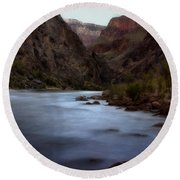 Evening In The Canyon Round Beach Towel