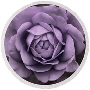 Evening Lavender Rose Flower Round Beach Towel