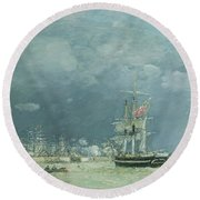 Evening Le Havre Round Beach Towel