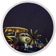 Evening On The Carrier Round Beach Towel by Mountain Dreams