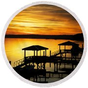 Evening On The May Round Beach Towel