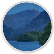 Evening Over Derwentwater Round Beach Towel