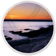 Evening Repose Round Beach Towel