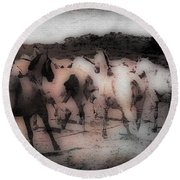 Evening Roundup - Featured In Comfortable Art Group Round Beach Towel