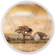 Evening Showers Round Beach Towel