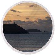 Evening Skies At Polzeath Round Beach Towel