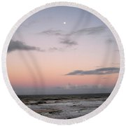 Evening Sky Round Beach Towel
