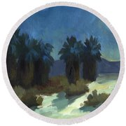 Evening Solitude Round Beach Towel