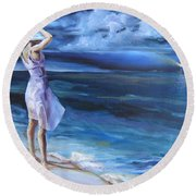 Evening Song Round Beach Towel