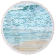 Evening Surf Round Beach Towel