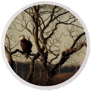Evening Watch Round Beach Towel