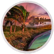 Evening's Kiss Round Beach Towel