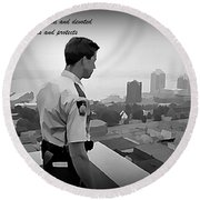 Ever Watchful Round Beach Towel