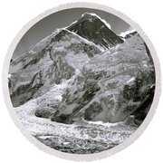 Everest Sunrise Round Beach Towel