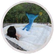 Everglades City Florida Mermaid 018 Round Beach Towel