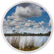 Everglades Lake 6853 Round Beach Towel