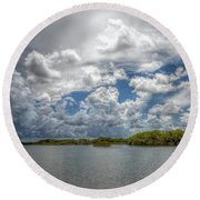 Everglades Lake 6919 Round Beach Towel by Rudy Umans