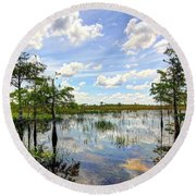Everglades Landscape 8 Round Beach Towel