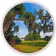 Evergreen Plantation II Round Beach Towel by Steve Harrington