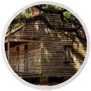 Evergreen Plantation Slave Quarters Round Beach Towel