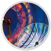 Evergreen State Fair Ferris Wheel Round Beach Towel