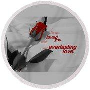 Everlasting Love Round Beach Towel