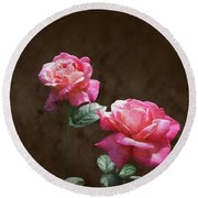Everlasting Roses Round Beach Towel