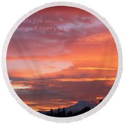 Every Day A Miracle Round Beach Towel