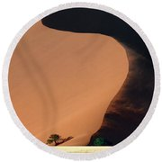 Every Day Paints A New Design.. Round Beach Towel