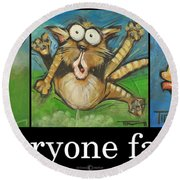 Everyone Farts Poster Round Beach Towel