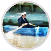 Everyone Is The Captain Of Their Own Boat Round Beach Towel