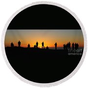 Everyone Loves A Sunset Panorama Round Beach Towel