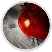 Eve's Burden Round Beach Towel by Lourry Legarde