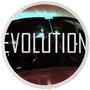 Evolution Round Beach Towel