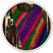 Evolution Of Art Round Beach Towel