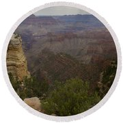 Evolution Of Nature At The Grand Canyon Round Beach Towel