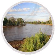 Ewaso Nyiro River Round Beach Towel