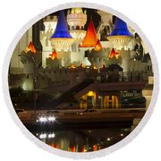 Excalibur Reflection Round Beach Towel