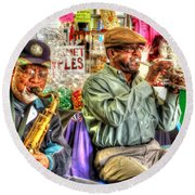Excelsior Band Horn Players Round Beach Towel