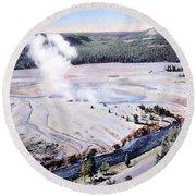 Excelsior Geyser, Yellowstone Np, 20th Round Beach Towel