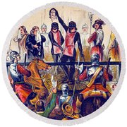 Execution Of Charles I, 1649 Round Beach Towel
