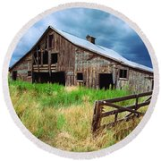 Exit 166 Barn Round Beach Towel