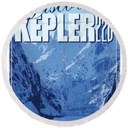 Exoplanet 02 Travel Poster Kepler 22b Round Beach Towel