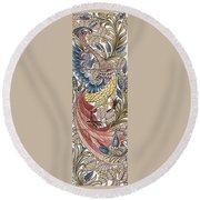 Exotic Bird Round Beach Towel by William Morris