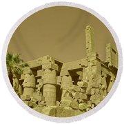 Exotic Egypt Round Beach Towel