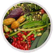 Exotic Fruits Round Beach Towel